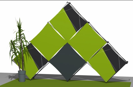 Xpressions Pyramid M creative pop up display