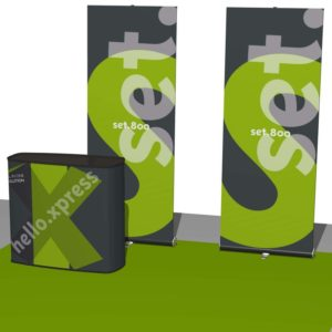 Trade show display banners.